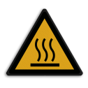 Veiligheidspictogram Heet oppervlak Veiligheidspictogram - Warm oppervlak- W017  Heet, warm, verbranden, opervlak