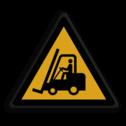 Veiligheidspictogram Heftrucks Veiligheidspictogram - Pas Op! Heftrucks - W014 Pas op, hef, truck