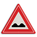 Verkeersteken Slecht wegdek Verkeersteken RVV J01 - klasse III hobbels in de weg, pas op, let op, slechte weg, J1
