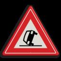 Verkeersbord Vooraanduiding ongeval Verkeersbord RVV J34 - Vooraanduiding ongeval J34 pas op, let op, ongeluk, gekantelde auto, J34