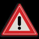 Verkeersbord Algemeen gevaarteken Verkeersbord RVV J37 - Vooraanduiding gevaar J37 gevarendriehoek, uitroepteken, drriehoekbord, let op, pas op, J37