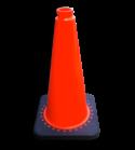 Afzetkegel VERZWAARD 750mm oranje + recycling voet pion, pionnen, kegels, pilon, oranje, hoedje