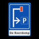 Verkeersbord Doodlopende weg - eigen tekst Verkeersbord RVV L09 - E04 + 1 regel txt doodlopende weg, l8, versperring, geen doorgang