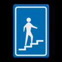 Verkeersbord Trap naar beneden Verkeersbord RVV L301ro - Trap naar beneden L301 L301rb, L301, Trap, beneden, voetganger