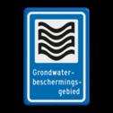 Verkeersbord Grondwaterbeschermingsgebied Verkeersbord RVV L305b - Grondwaterbeschermingsgebied L305 Grond, Water, Bescherming, Grondwaterbeschermingsgebied, gebied, gebied, rust, rustgebied, natuur, L305e, L305
