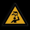 Veiligheidspictogram Laag plafond Veiligheidspictogram - Laag-plafond - W020 laag, hoog, plafond