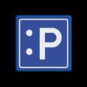 Verkeersbord blauw/wit E04 - LOL  cadeau, kado, zelf tekstbord maken, tekst invoeren, blauw bord