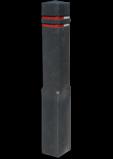 Bermpaal Recycling kunststof 15x15x140cm + reflecterende stroken parkeerpaal, aanrijdpaal, bermpaal, recycling paal, verseperringspaal, aanrijdbeveiliging, afzetpaal