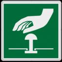 Veiligheidspictogram bediening voor de noodknop Veiligheidspictogram - Noodknop bediening - E020 Noodknop, nood, knop