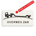 Verkeersbord Onderbord - Verhoogde overweg Verkeersbord RVV OB - overweg - Onderbord - Verhoogde overweg J37, spoorweg, dieplader, trein, oplegger