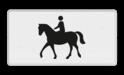 Verkeersbord Onderbord - Geldt alleen voor ruiter te paard Verkeersbord RVV OB01 - Onderbord - Geldt alleen voor ruiter te paard OB01 paard, OB1, geldt alleen voor ruiter te paard.