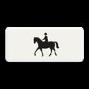 Verkeersbord Onderbord - Geldt alleen voor ruiter te paard Verkeersbord RVV OB01 - Onderbord - Geldt alleen voor ruiter te paard OB001 paard