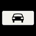 Verkeersbord Onderbord - Geldt alleen voor auto's Verkeersbord RVV OB08 - Onderbord - Geldt alleen voor auto's OB008 auto, wit bord, OB8
