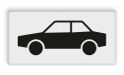Verkeersbord Onderbord - Geldt alleen voor auto's Verkeersbord RVV OB09 - Onderbord - Geldt alleen voor auto's OB09 auto, wit bord, OB09