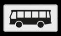 Verkeersbord Onderbord - Geldt alleen voor bussen Verkeersbord RVV OB12 - Onderbord - Geldt alleen voor bussen OB12 bus, touringcar, wit bord, OB12