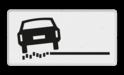 Verkeersbord Onderbord - rechts zachte berm Verkeersbord RVV OB18l - Onderbord - links zachte berm OB18 wit bord, OB18l, links zachte berm, OB18