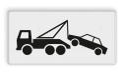 Verkeersbord Onderbord - Wegsleepregeling van kracht Verkeersbord RVV OB303 - Onderbord - Wegsleepregeling van kracht OB303 vrachtwagen, vrachtauto, auto, wit bord, OB303, wegsleepregeling