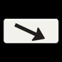 Verkeersbord Onderbord - Verwijzing rijbaan of parkeervak Verkeersbord RVV OB501-schuin - Onderbord - Verwijzing rijbaan of parkeervak pijl rechts, wit bord, richting, OB501, schuin