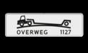 Verkeersbord Onderbord - Verhoogde overweg Verkeersbord RVV OB618 - Onderbord - Verhoogde overweg OB618 J37, spoorweg, dieplader, trein, oplegger, OB618, OB617