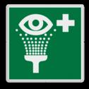 Veiligheidspictogram veiligheidspictorgram voor oogdouche Veiligheidspictogram - Oogdouche - E011 Ogen, Douchen, veiligheid
