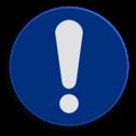 Veiligheidspictogram Opletten Veiligheidspictogram - Opgelet - M001 NEN7010, veiligheidspictogram, opletten