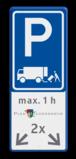 Verkeersbord E07 + logo + tekstregels en pictogram  Wit / blauwe rand, (RAL 5017 - blauw), E08N, maximaal, 2 x 24h,   Verboden toegang