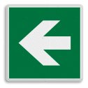 Veiligheidspictogram Pijl links Veiligheidspictogram - Vluchtroute - te volgen richting - links Pijl, links, wijzend, pijlen