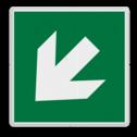 Veiligheidspictogram Pijl links-omlaag Veiligheidspictogram - Vluchtroute - te volgen richting - Pijl links-omlaag Pijl, links, omlaag, pijlen