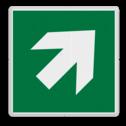 Veiligheidspictogram Pijl rechts-omhoog Veiligheidspictogram - Vluchtroute - te volgen richting - Pijl rechts-omhoog Pijl, rechts, wijzend, pijlen, omhoog