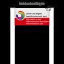 Portaalsysteem BLOCK inclusief informatiebord rechthoek 2:1 tussen 2 Staanders 2000mm boven maaiveld