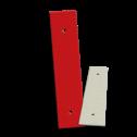 Bermpaalreflector alu 40x180mm reflector, versperring, parkeerterrein