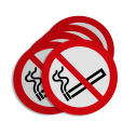 Stickerset Verboden te roken Stickerset C01_roken verboden | set van 5 stickers soepbord, roken verboden, niet roken, sigaret, sigaar, C1