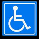 Verkeersbord Rolstoel toegankelijkheid Verkeersbord ROLSTOEL toegangelijkheid gehandicapten, toegang