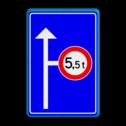 Informatie-, routebord blauw/wit + RVV C21 eigen ontwerp, speciale borden, c21