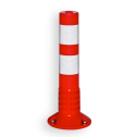 ComeBack rubber afzetpaal Ø80mm rood / wit reflex
