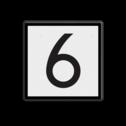 NS Rijden toegestaan met ten hoogste de door het getal aangegeven snelheid. NS Seinbord 312 - snelheidsbord - 400x400mm Wit / zwarte rand, (RAL 9005 - zwart), Let op!, Hier uw, eigen tekst-, regels