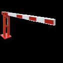 Slagboom COMPACT - handbediend - gasdrukveer slagboom, hefboom, inrit, uitrit