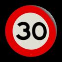 Kliko RVV A01 / snelheidsbeperking Kliko sticker RVVA01-xx / 30 cm school, spelende kinderen, matig uw snelheid, overstekende kinderen, J21