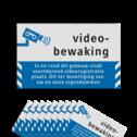 Videobewaking Videobewaking - In en rond dit gebouw vindt voortdurend videoregistratie plaats. Dit ter beveiliging van uw en onze eigendommen Videobewaking - Raamstickers Reflecterend ( 10 stuks ) preventie, attentie, videobewaking, stickers