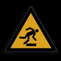 Veiligheidspictogram Waarschuwing voor struikel gevaar Veiligheidspictogram - Struikelgevaar - W007 Struikel, vallen