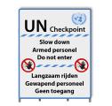Informatiepaneel UN-bord 9905 622 - UN Checkpoint Sign