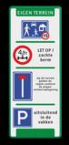 Verkeersbord 400x1000mm met 4 pictogrammen Wit / groene rand, (RAL 6024 - groen), Let op!, Veiligheidshelm dragen verplicht, Veiligheidshandschoenen verplicht, Verbod roken en open vuur