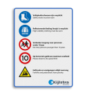 Veiligheids- informatiebord - inclusief logo Soldaat van oranje
