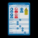PBM bord rechthoek 2:3  full-colour opdruk persoonlijke beschermingsmiddelen, logobord, eigen ontwerp, schoolplein, speciale borden