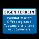 Informatiebord Eigen terrein met eigen tekst Informatiebord 800x600mm koptekst + 5 tekstregels eigen terrien, privé terrein, verboden