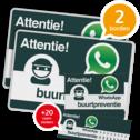 WhatsApp Buurtpreventie SET - 2 borden + 20 stickers