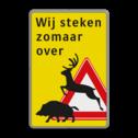 Verkeersbord J27 Wild - Wij steken zomaar over Im Schrittempo überholen