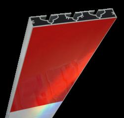 Schrikhekplank 5000mm lang VERZWAARD blokmotief. RVV BB16-1 hekplank, schrikhek, rood, witte, planken, schrikplank, afzethek, blokken, RVV BB15-2, BB15