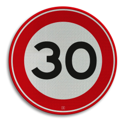 Verkeersbord Maximumsnelheid Verkeersbord RVV A01-030 - klasse 3 30 km zone, A1