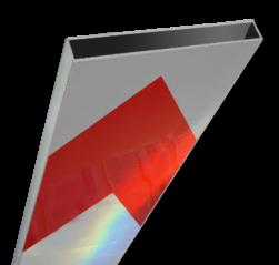 Schrikhekplank 3500mm lang kokerprofiel pijlmotief. RVV BB18-1 hekplank, schrikhek, rood, witte, planken, schrikplank, afzethek, blokken, RVV BB15-2, BB15